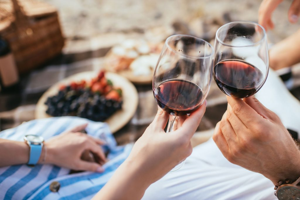 Red wine in summer